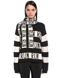 Sportmax - Run Stripes Stretch Wool Scarf - Lyst