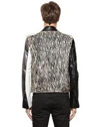 HTC Hollywood Trading Company - Ponyhskin & Leather Biker Jacket - Lyst