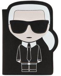 "Karl Lagerfeld - Porta Passaporto ""k/ikonic"" In Ecopelle - Lyst"