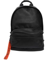 Bikkembergs - Hide Faux Leather & Rubber Backpack - Lyst