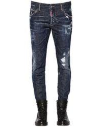 DSquared² | 16cm Ski Destroyed Stretch Denim Jeans | Lyst