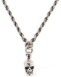 Emanuele Bicocchi - Small Skull Chain Necklace - Lyst