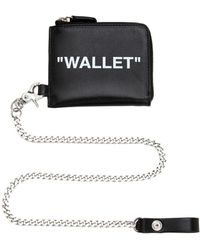 Off-White c/o Virgil Abloh - Zip Around Leather Wallet W/ Chain - Lyst