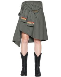 Faith Connexion - Military Cotton Canvas Shirt Skirt - Lyst