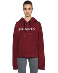 Filles A Papa - Logo Print Crystal Sweatshirt Hoodie - Lyst