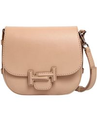 Tod's | Double Tt Leather Shoulder Bag | Lyst