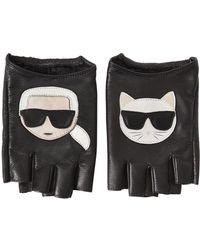"""Karl Lagerfeld Mitaines En Cuir """"k/ikonik"""""""