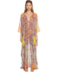Etro Paisley Printed Silk Georgette Dress - Multicolour
