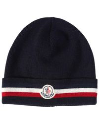 Moncler - Cappello Beanie In Lana A Righe - Lyst
