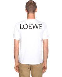 Loewe - Camiseta De Algodón Jersey Estampada - Lyst