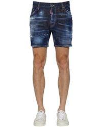 """DSquared² - Shorts """"commando"""" In Denim Di Cotone 16.5cm - Lyst"""