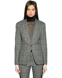 Faith Connexion - Tailored Wool Prince Of Wales Blazer - Lyst