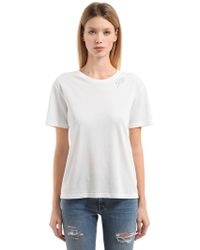 Saint Laurent - Je T'aime Cotton Jersey T-shirt - Lyst
