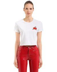Fiorucci - Vintage Cherries Jersey Crop T-shirt - Lyst