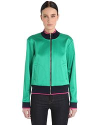 Juicy Couture - Bird Stretch Satin Bomber Jacket - Lyst