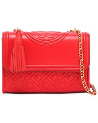 Tory Burch - Small Fleming Leather Shoulder Bag - Lyst