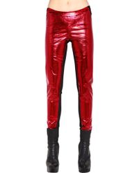 Gareth Pugh - Metallic Faux Leather Pants - Lyst