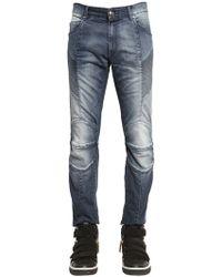 Balmain | Bleached Stretch Jeans | Lyst