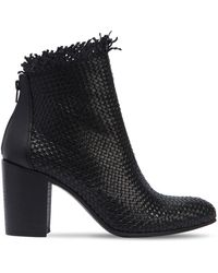 Strategia   80mm Woven Leather Ankle Boots   Lyst