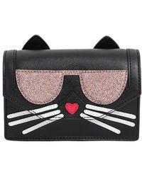 Karl Lagerfeld - K Kocktail Cat Faux Leather Shoulder Bag - Lyst