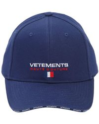 Vetements - Embroidered Haute Couture Canvas Hat - Lyst