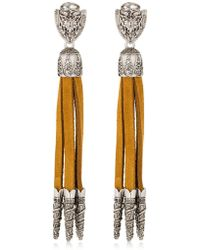 DSquared² - Western Suede Clip-on Earrings - Lyst