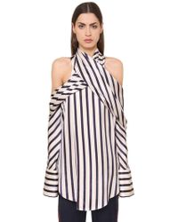 Monse - Striped Viscose Shirt - Lyst