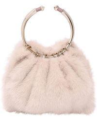 Valentino - Bebop Loop Mink Fur Bag - Lyst