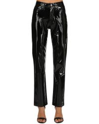 Calvin Klein Jeans - Vinyl Mid Rise Straight Trousers - Lyst