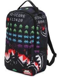 Sprayground - Shark Space Invaders Print Backpack - Lyst