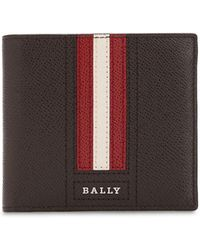 Bally - Striped Saffiano Leather Classic Wallet - Lyst