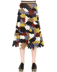 Rosetta Getty - Falda De Crochet Patchwork - Lyst