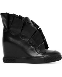 Casadei - 80mm Maleficent Ruffled Leather Sneakers - Lyst