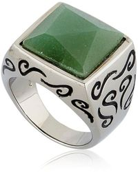 Marco Dal Maso - Ara Engraved Ring With Aventurine - Lyst