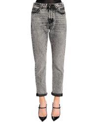 Saint Laurent - Skinny Stretch Washed Denim Jeans - Lyst