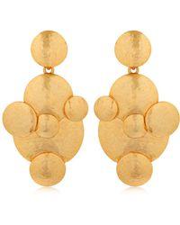 Oscar de la Renta - Fish Scale Drop Earrings - Lyst