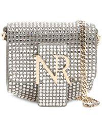 Nina Ricci - Embellished Suede Logo Shoulder Bag - Lyst