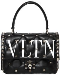 Valentino - Vltn Candy Leather Top Handle Bag - Lyst