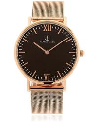 KAPTEN & SON - 40mm Steel Mesh Watch - Lyst
