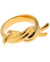 Eshvi - Venus Gold Plated Ring - Lyst
