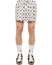 KTZ - Monogram Printed Cotton Boxer Shorts - Lyst