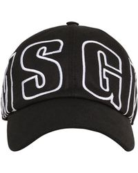 5dc23606d8f MSGM - Logo Embroidered Cotton Baseball Hat - Lyst