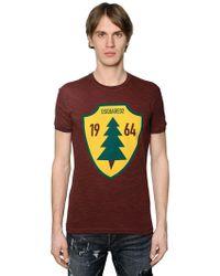 DSquared² - T-shirt en jersey de coton imprimé sapin - Lyst