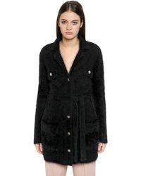 Emporio Armani | Angora Wool Blend Cardigan Jacket | Lyst