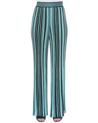 Missoni - Pantalones De Punto De Lurex A Rayas - Lyst