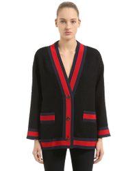 Gucci - Tweed Cardigan Jacket W/enameled Buttons - Lyst