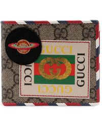 Gucci - Courier Gg Supreme Classic Wallet - Lyst