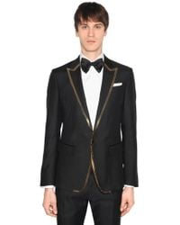 DSquared² - London Wool Silk Jacket W/ Sequined Trim - Lyst