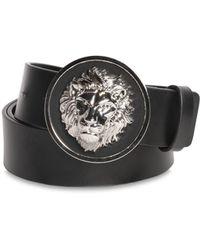 Versus - Lion Head Smooth Leather Belt - Lyst