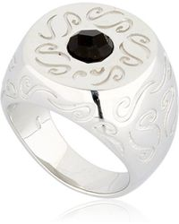 Marco Dal Maso - Ara Engraved Ring With Onyx - Lyst